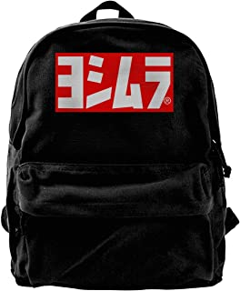 Yoshimura - Mochila de lona con logotipo de Yoshimura, para gimnasio, senderismo, portátil, bolsa de hombro para hombres y...