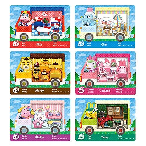 6 mini tarjetas ACNH para Amiibo Sanrio, RV Villager Muebles compatibles con Switch/Switch Lite/New 3DS