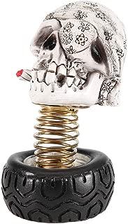 KIMISS Dashboard Decor, Swing Waving Human Skull Head Car Interior Decoration Dashboard Ornament Decor Accessories
