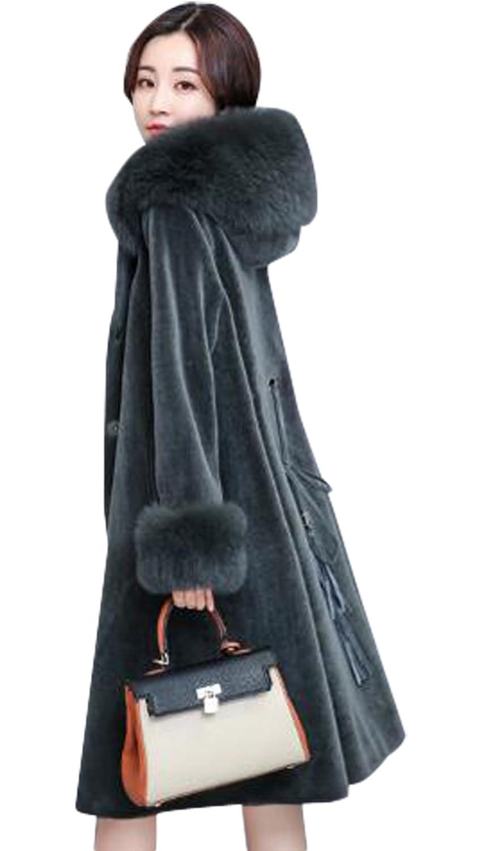 GuDeKe  冬物 レディース チェスターコート ロング丈 トレンチコート 毛皮 ケープ ウールコート 毛襟 カシミヤコート 暖かい 防寒ジャケット 着痩せ エレガント スリム 細身 きれいめ パーティー 結婚式