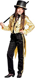 Italian Made Girls Deluxe Broadway Dance Troupe Circus Ringmaster Fancy Dress Costume Outfit 3-10 Years