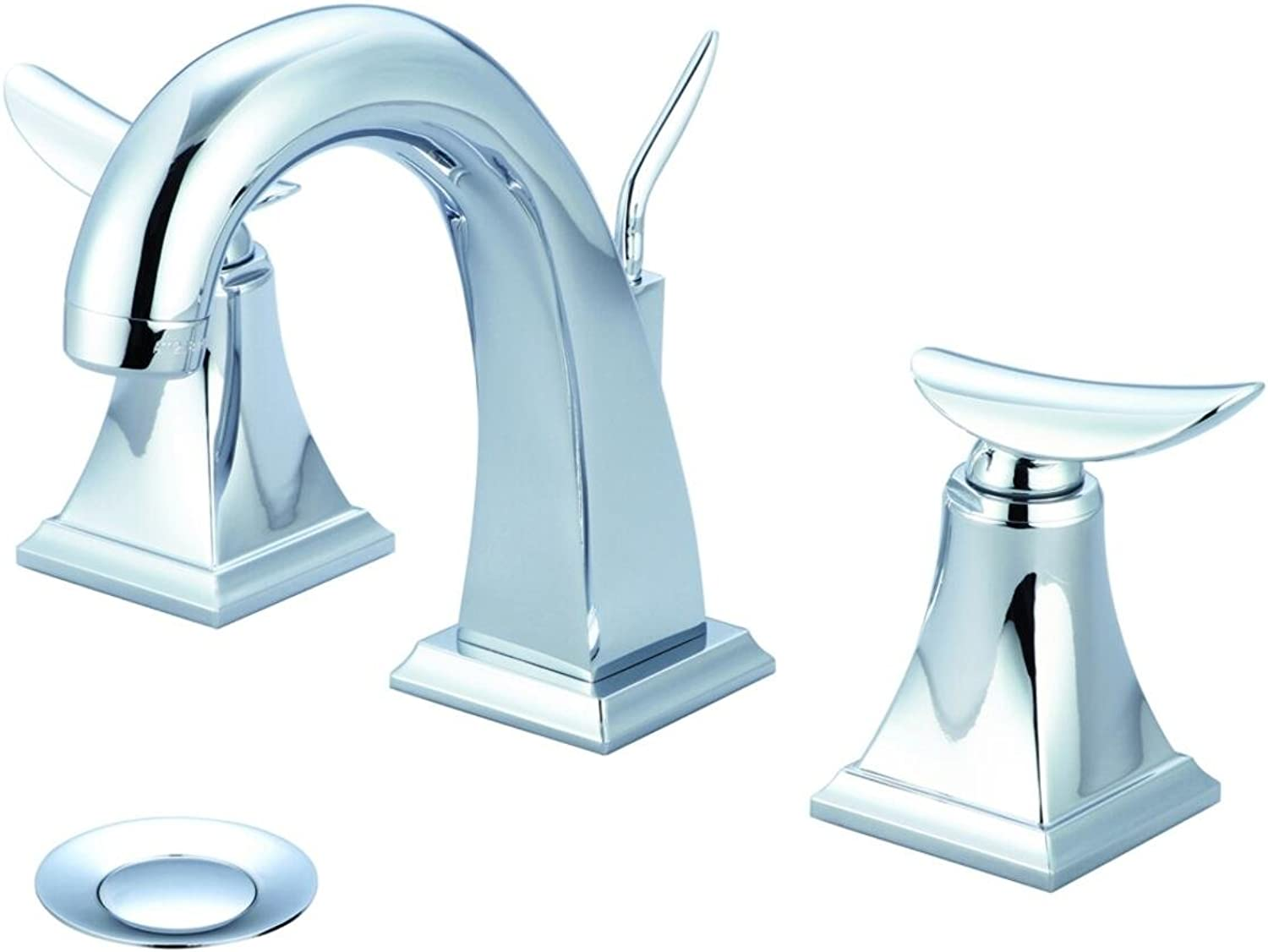 Pioneer Prenza Series 3PR200-E1.5 Two Handle Lavatory Widespread Faucet, PVD Polished Chrome