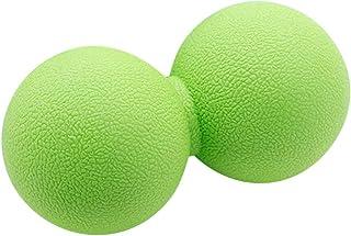 TPEピーナッツ筋膜マッサージリラックス筋肉ジムトレーニング体の痛みを軽減するホッケーボール疲労トレーニングダブルボールフィットネスボール - グリーン