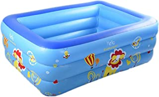 Inflatable Swimming Pool Full-Sized Family Lounge Pool, Family Inflatable Swimming Tool, Water Game Play Center for Kids A...