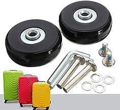 Zwenkwielen OD réparation de roues de remplacement 50mm  2 pièces, valise de luxe réparation d'essieux de 50mm Sterk