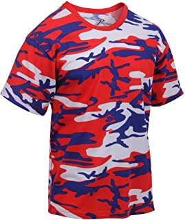 red white and blue camo t shirts