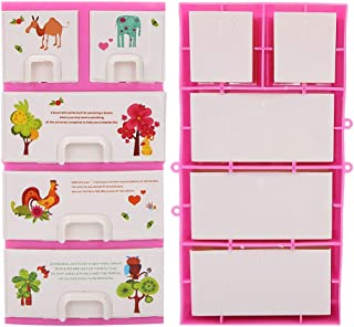 Zerodis Petites Boîtes de Rangement en Plastique Panier de Rangement des Poupée Accessoire à la Maison pour Les Petits Enf...