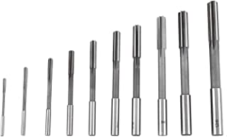 Round Shank Black and Gold Finish Pack of 1 Drillco 4285N Series High-Speed Steel Nitro Construction Reamer High Spiral Flute 1-1//8 Size 6-7//8 Length