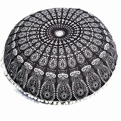 FORUU Throw Pillowcase, St. Patrick's Day Clover Ladies Sales 2020 Under 10 Valentine's Day Best Large Mandala Floor Pillows Round Bohemian Meditation Cushion Ottoman Pouf