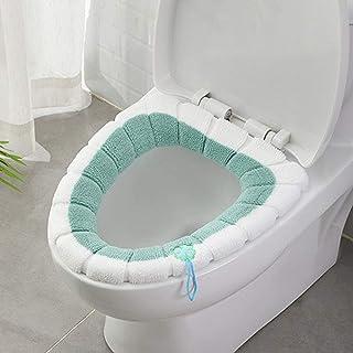 ELEGANT YAY Cojín universal impermeable para asiento de inodoro con lazo para colgar baño, suave y cálido, lavable, color ...