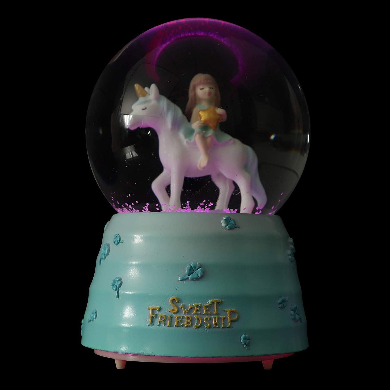 Save money VALICLUD Crystal Snow Baltimore Mall Music Globe Unicorn B Ball Box Glass