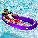 m·kvfa Inflatable Eggplant Pool Float Outdoor Swimming Pool Purple Pool Summer Party Giant Purple Pool Lounge Beach Holiday Raft Toys for Adults and Kids