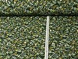 Sweatstoff Jungle von Hilco, dunkelgrün (Stoff ab 25cm x