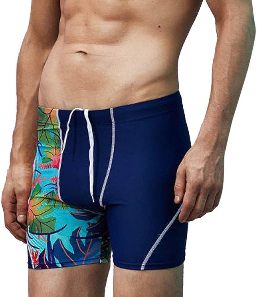 MODOQO Men's Shorts Trunks, Nylon Quick Dry Drawstring Summer Surfing Swimming Fitness Pants