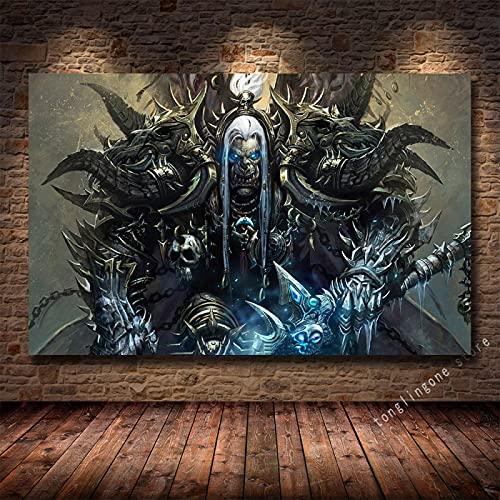 LGYJAL Pinturas en Lienzo Impresiones Póster Artístico Teldrassil Burning World of Warcraft Battle For Azeroth Juego Cuadros de Pared Decoración del hogar 50x70 cm U-228
