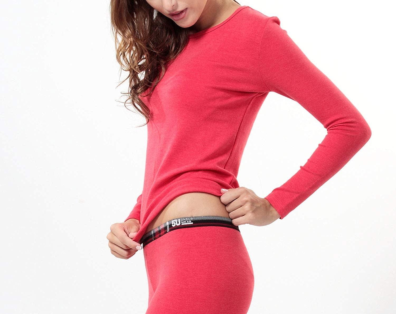 Women's Thermal Underwear Thick Multilayer Long Women for Winter Ladies Inner Wear,Blue Purple (V-Neck),M