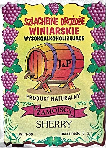 Hugbert Weinhefe Sherry für schwere Weine 100% natürlisches Produkt Hefe, Wein, 3 Stück