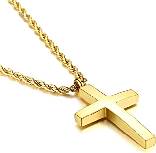 Best cross pendant gold mens Reviews