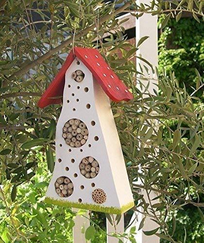 Insektenhotel farbenfroh weiß/rot/grün