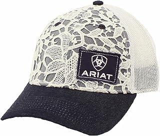 قبعة حريمي من ARIAT برباط خلفي بكبسولة من الدانتيل، دنيم