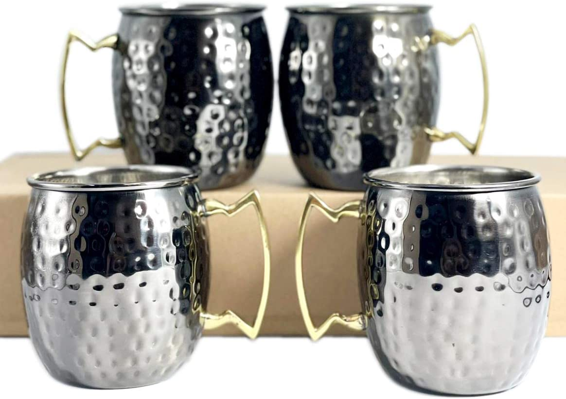 Moscow Mule Mug Max 87% OFF Black Mirror Hammered Finish Gifts