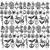 80 Pieces Halloween Charms Pendants Antique Silver Pendants Halloween Jewelry Making Accessory for DIY Necklace Bracelet