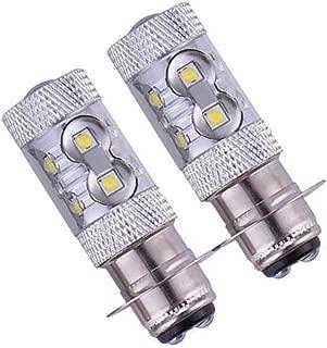 DSparts 2x Headlights Fit For Yamaha Raptor 125 250 660R 700R YFM660R LED Bulbs 100W 6000K White