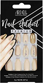 Ardell Nail Addict Premium Artificial Nail Set, Nude Jeweled