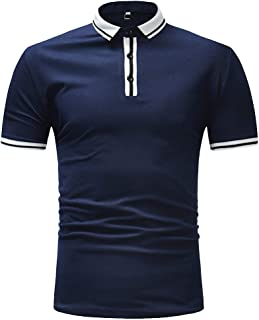 RAINED-Mens Short Sleeve Casual T Shirt Hipster Premium Tees Stylish Fitness Athletic Polo Pique Classic Fit Golf Shirts