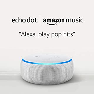 Echo Dot (3rd Gen) for $4.99 and 1 month of Amazon Music Unlimited for $7.99 with Auto-renewal -Sandstone