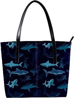 LORVIES - Borsa a tracolla da donna, in pelle PU, con squalo marino, da spiaggia, per nuoto, nuoto, spiaggia, spiaggia, sp...