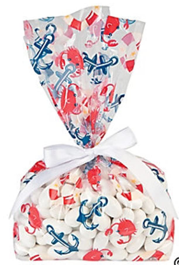 Nautical Baby Shower Cellophane Bags (2 Dozen)