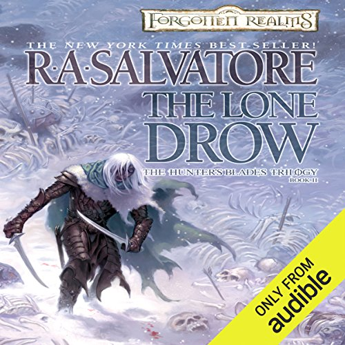 The Lone Drow     Legend of Drizzt: Hunter's Blade Trilogy, Book 2              Auteur(s):                                                                                                                                 R. A. Salvatore                               Narrateur(s):                                                                                                                                 Victor Bevine                      Durée: 14 h et 22 min     12 évaluations     Au global 5,0