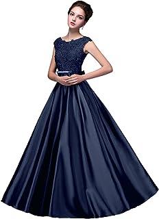 1781beaae74 Beauty-Emily Robe de mariée Barbie sans Manche Dentelle Longue Bowknot  V-Back Prom