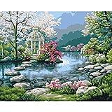 Pintura por números pintura de paisaje sin marco por números DIY dibujar número lienzo pintura para decoración del hogar A11 45x60cm