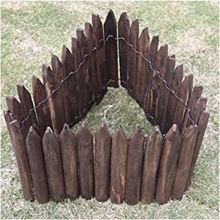 ZHANWEI Garden Fence Picket Fencing Carbonization Solid Wood Bendable Outdoor Lawn Edging Decor, 6 Sizes (Color : 1 PC, Si...