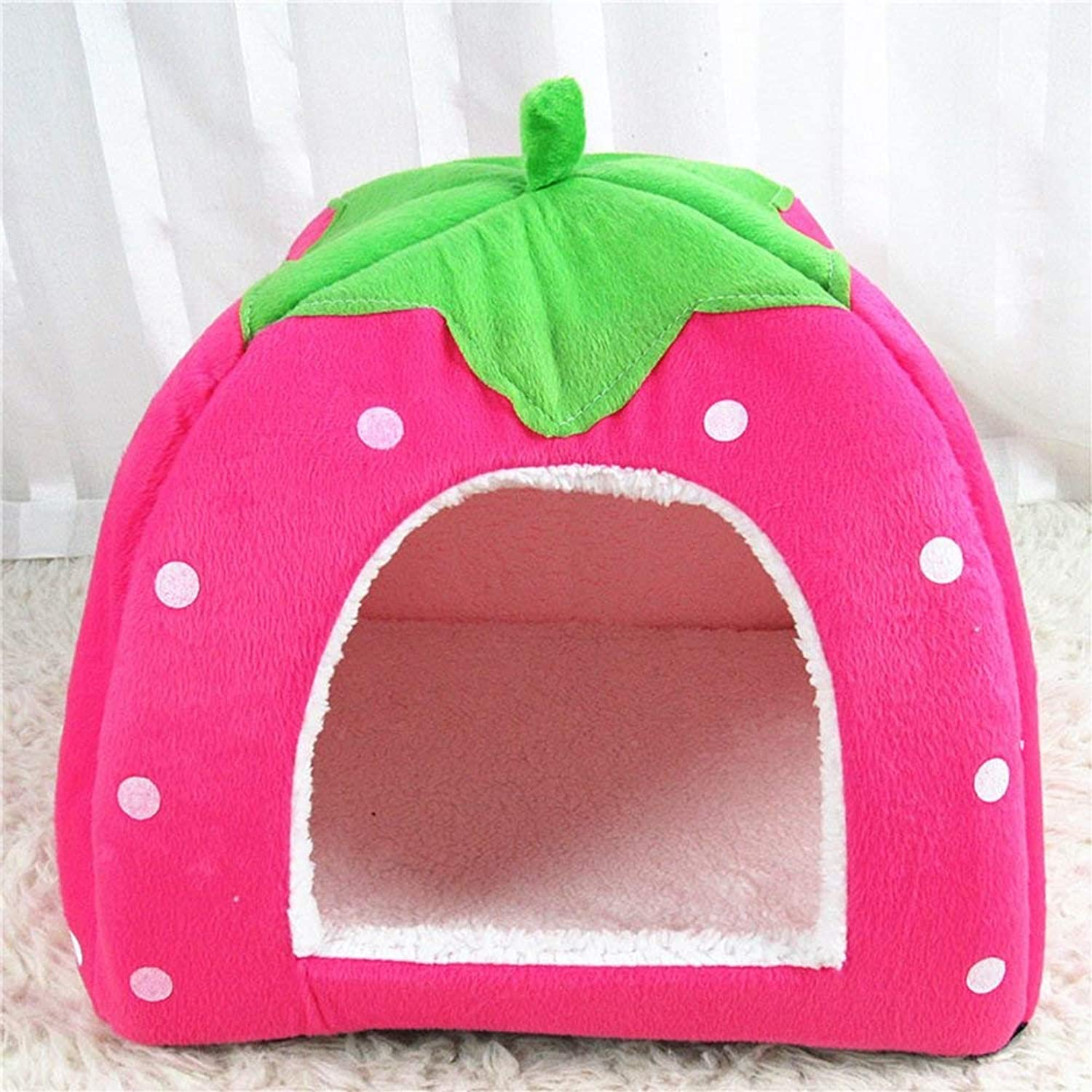 Pet Sofa Dog Kennel Detachable Pet House Cat Litter House Taidibi Bear Puppies Small Dogs Dog Supplies Four Seasons (color   Pink, Size   Medium)