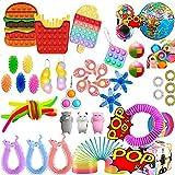 Juego de 41 juguetes de TIK Tok Fidget Sensory Fidget Toys Push Bubble Pop Juguete de alivio de la ansiedad para ADD OCD Autistic Niños Adultos Ansiedad autismo