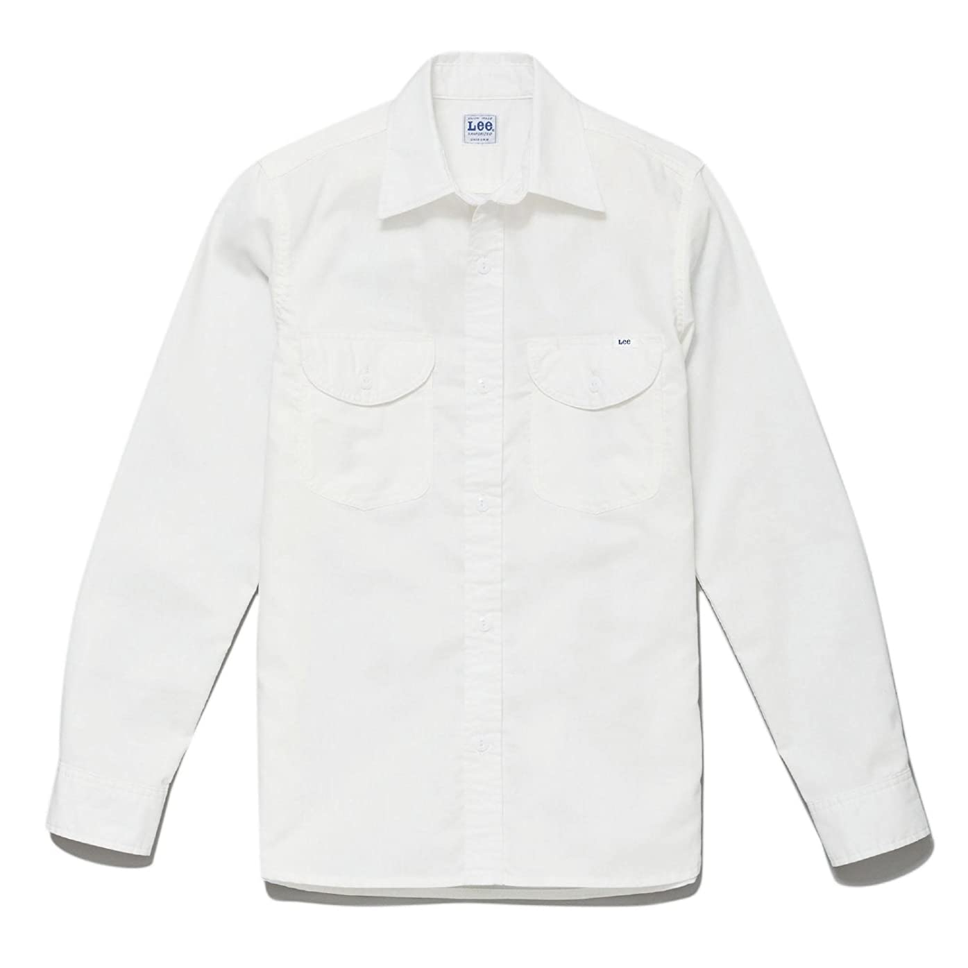 ベル表向き維持(リー) Lee メンズ シャンブレー長袖シャツ LCS46003 15 ホワイト XL
