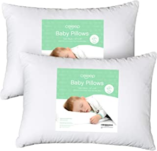 [2-Pack] Celeep Baby Toddler Pillow Set – 13 x 18 Inches Organic Toddler Bedding..