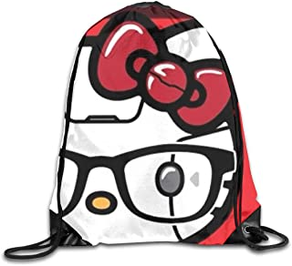 ea2d42671 Meirdre Unisex Hello Kitty Sports Drawstring Backpack Gym Bag