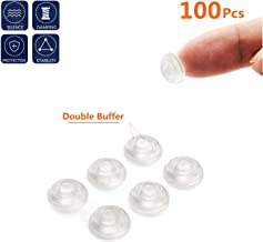 Soft Close Cabinet Bumper 100 PCS Clear Adhesive Rubber Bumper Sound Dampening for Drawers Cutting Boards Picture Frames Non Slip Especial Circular Dots Shaped
