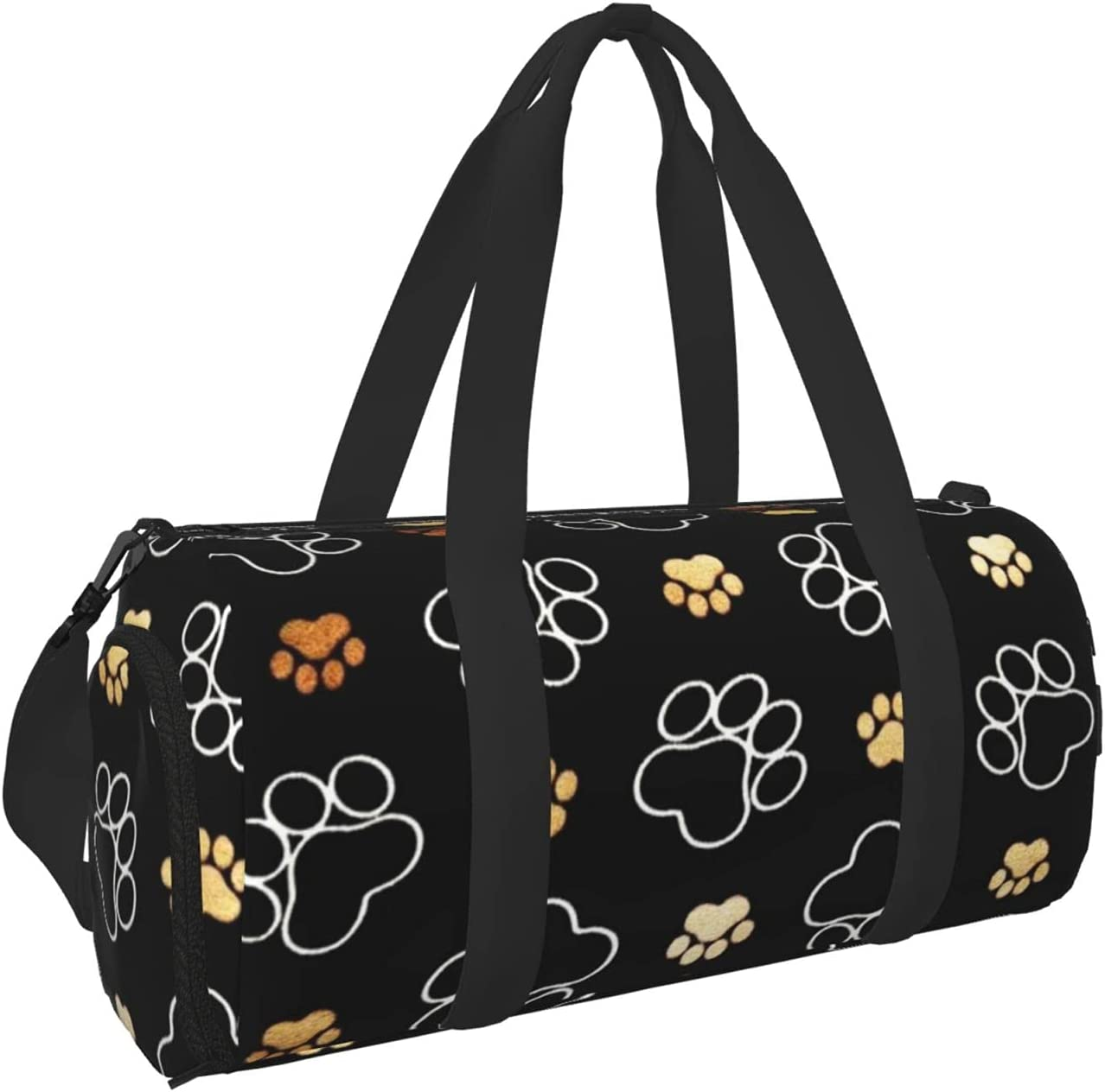 Portland Mall Denver Mall Dog Paw Prints Sports Gym Bag With Shoes Pocket Wet Compartmen