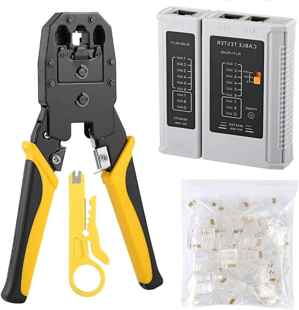 Solsop Cable Tester Free shipping anywhere in the nation price RJ45 Crimp CAT5e CAT5 Crimper Tool kit