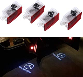 IHEX Auto Car Door LED Light Projector Ghost Shadow Lights Welcome Lamp for Mercedes-Benz E A B C ML Class w212 w166 w176 Series(4 Pack)