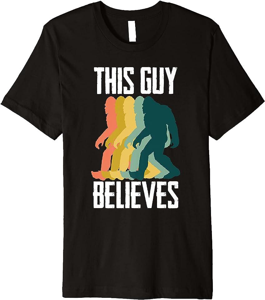 Bigfoot Believe Retro Pop Art Premium T-Shirt