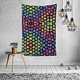 N/A Tapiz de mandala tapiz para colgar en la pared, tapiz colorido para concienciación sobre el autismo, manta de pared, decoración para el hogar, decoración de dormitorio