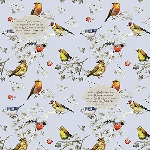Servietten »Wintervögel« - 20 Stück