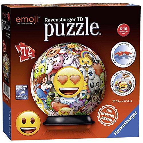 Ravensburger Italy Emoji Puzzle 3D Ball, 12198