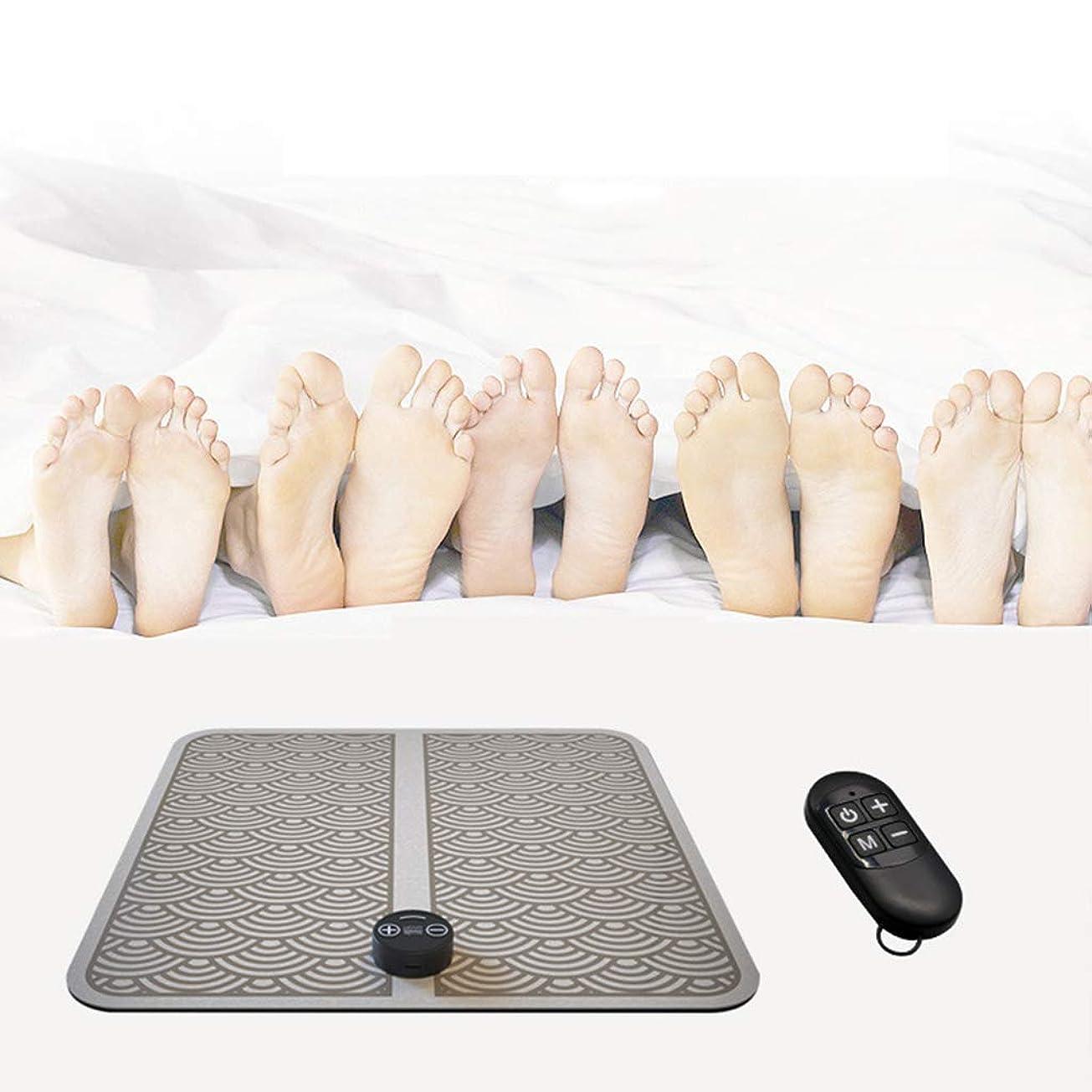 マットレス適度にステップ指圧マッサージ機、EMS理学療法マッサージ電気USB充電振動足ペディキュアマシン